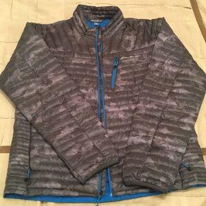 Eddie Bauer thin Grey Camo puffer jacket